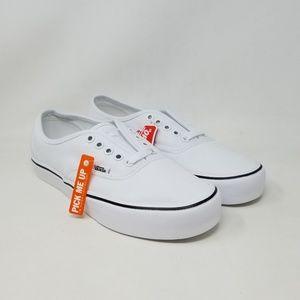 Vans Authentic Lite Canvas White Sneakers Mens 7.5
